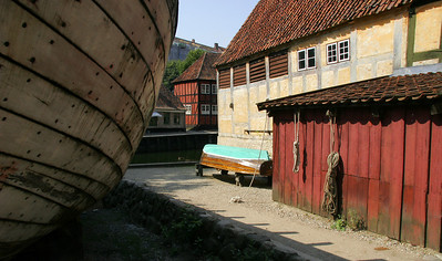 Boat building docks, Den Gamle By.