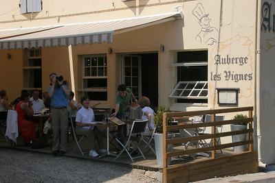Lunch in Sauterne village.