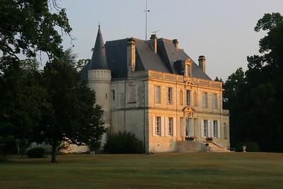 Sunrise on Chateau Foulon.
