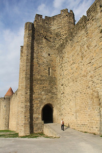 The much smaller St. Nazaire Gate and Tower on the south end of town.