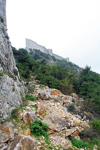 Part of our trail on the far side of the ridge.  It was a pretty rough hike of about 1/3rd mile to get to the Château.
