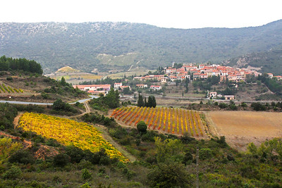 While driving to Peyrepertuse, we came across several towns, this one being Cucugnan.