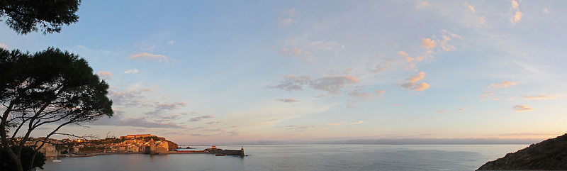 Multi-image panorama of our balcony view.