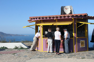 This coastal area produces a lot of good wine.  This shack along the cliffs offered tastings.