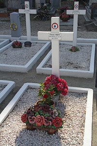 Graves of French combatants in the First WW.