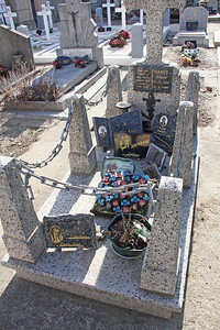 This grave seems to get a lot of attention and care.