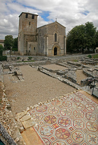 A last look at the church with the Roman villa ruins before it.  Now, on to Dordogne.