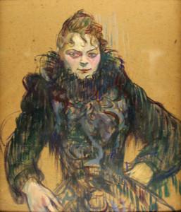 """""""Femme au Boa Noir"""", Toulouse-Lautrec, 1892"""