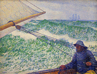 """Homme a la Barre"" (Man at the Helm), Theo van Rysselberghe, 1892"