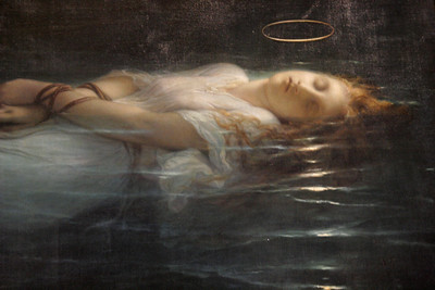 """La Jeune Martyre"", Delaroche, 1855; one of my favs in Le Louvre."
