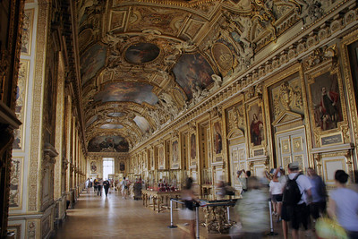One of the Louvre hallways.