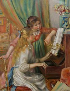"""""""Jeune Filles a Piano"""", Renoir, 1879"""