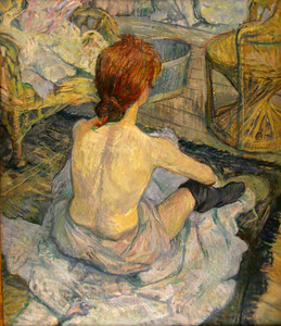 """Rousse"" (Redhead), or ""La Toilette"" (The Bath), Toulouse-Lautrec, 1889"