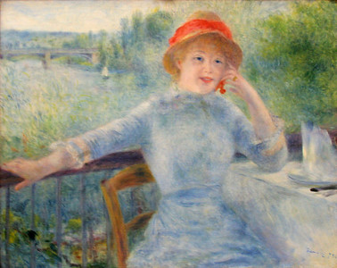 """Alphonsine Fournaise"", Renoir, 1879"