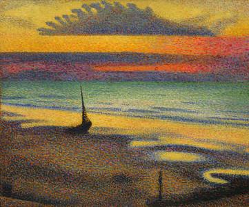"""La Plage a Heist"", George Lemmen, 1891"