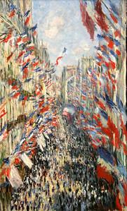 """""""La Rue Montorgueil Fete"""", Claude Monet, 1878"""