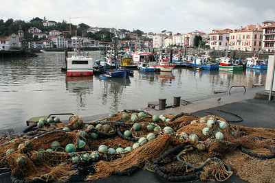 The inner harbor of St. Jean de Luz.