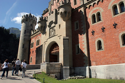 The castle entrance.