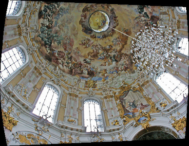 Ettal church ceiling.