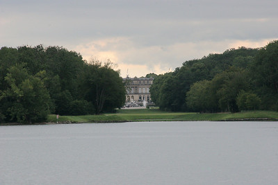 Herren Chiemsee castle seen from the boat we took to access the island in the middle of the lake.
