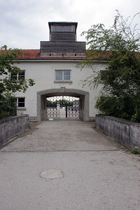 The front gate of the concentration camp through which so many lost souls passed.