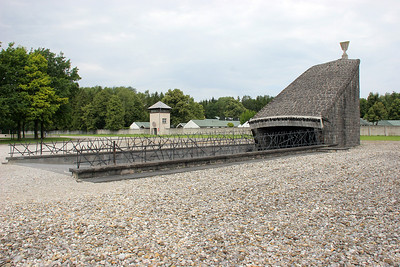 The Jewish memorial behind the barracks area.  Originally Dachau was establish to house political prisoners and opponents of the Nazi regime, so Jews were not the only victims.  But, over time they become the most numerous sufferers.