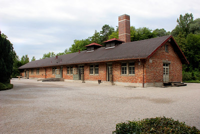 This building was mostly a crematorium, but also housed gas chambers to the far left.