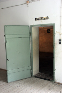 """""""Bausebad"""" ... as victims entered, they read over the door that this was a """"shower bath"""".  Actually, of course, it was a gas chamber."""