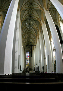Interior, Frauenkirche.  6 horizontal photos stacked vertically and stitched together.