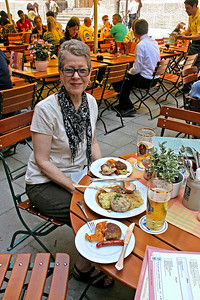 Germans like lots of meat in a wide variety of forms, lots of potatoes and lots of beer!
