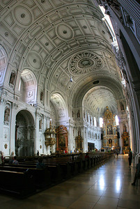 Another nearby church, St. Michael's (Michaelskirche).  Another pano of 6 images stacked vertically.