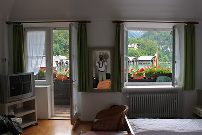 Our room in the Schiffmeister (Boat Master) Hotel right on the Konigsee.