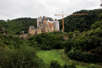 Burg Eltz is a very fanciful, but real, castle out in the middle of the countryside all by itself.  Our favorite guide, Rick Steves, describes it as his favorite European castle.  Unfortunately, it was undergoing a lot of restoration under Germany's economic stimulus plan, so it didn't' make for very good photos from a distance.