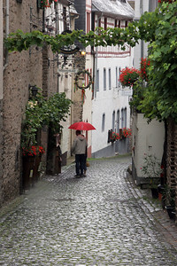 The main street of Beilstein.  It was raining lightly at the time.