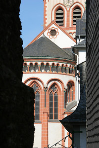 Exterior, Bacharach Protestant church.