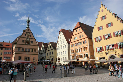 Rothenburg's Market Square, the center of town.