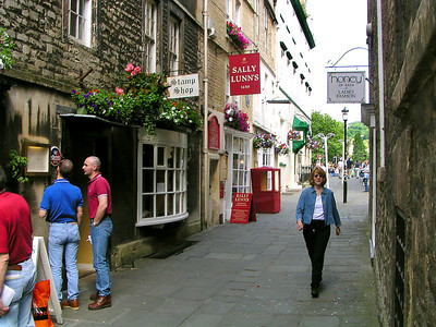 Walking the streets of Bath.