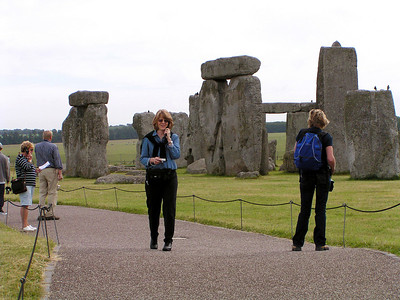 Our first stop after the airport ... Stonehenge!