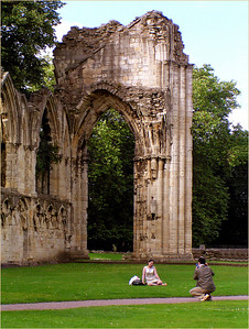 St. Mary's Abbey ruins.