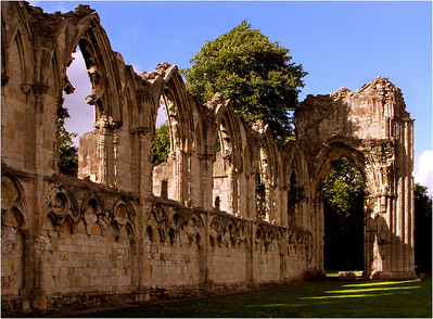 Ruins of St. Mary's Abbey, York.