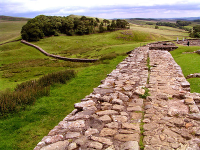 On our way from Edinburgh to York, we stopped for a visit to Hadrian's Wall.