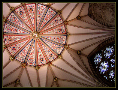 The ceiling of the Chapter House, attached to Yorkminster.