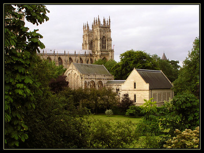 Yorkminster Cathedral and Bishop's quarters.