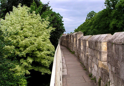 The older part of York is surrounded by a fortified wall.