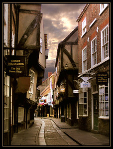 """The Shambles"", a very narrow lane in old town York."