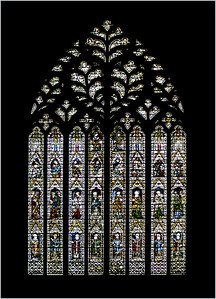 Yorkminster Cathedral stained glass window.