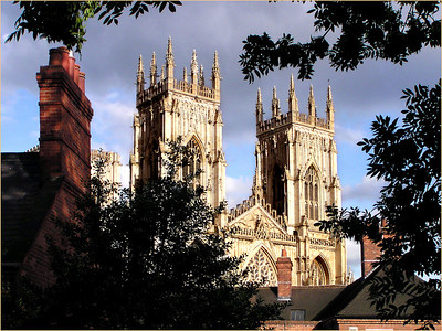 View of the Yorkminster Cathedral from the town wall.