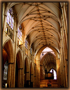 Interior of Yorkminster Cathedral.