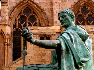 Constantine was in York at the time he was named the Roman Emperor in AD 306.