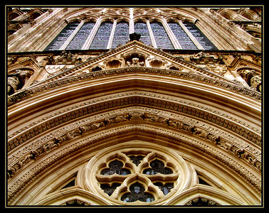 Details, main entrance of Yorkminster Cathedral.